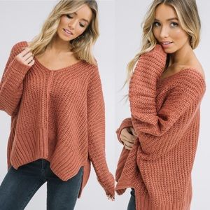 Sweaters - Spice V-Neck Cozy Knitted Sweater
